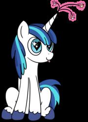 Size: 2780x3870 | Tagged: safe, artist:czu, shining armor, pony, unicorn, cute, heart eyes, magic, male, mlem, shining adorable, silly, sitting, solo, starry eyes, tongue out, unshorn fetlocks, wingding eyes