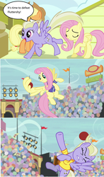 Size: 1280x2172 | Tagged: applejack, buckball, comic, common ground, edited screencap, fluttershy, hubris, las pegasus resident, safe, screencap, screencap comic, spoiler:s09e06, sweet buzz, viva las pegasus, wing hands, wings