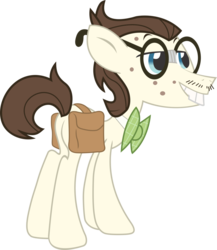 Size: 832x959 | Tagged: safe, gizmo, earth pony, pony, acne, bowtie, bucktooth, eyes closed, facial hair, glasses, male, moustache, saddle bag, simple background, solo, stallion, transparent background, vector
