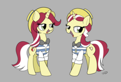 Size: 3496x2362 | Tagged: safe, artist:taurson, flam, flim, pony, unicorn, clothes, female, flim flam brothers, hat, mare, rule 63, sham, shim, shim sham sisters, simple background, smiling