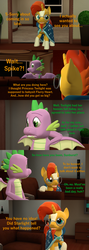Size: 1920x5400 | Tagged: safe, artist:papadragon69, spike, sunburst, dragon, comic:spike's cyosa, 3d, comic, comic book, crystal empire, cyoa, explicit source, implied starlight glimmer, older, older spike, source filmmaker, teenage spike, teenager, winged spike