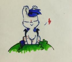 Size: 1895x1640   Tagged: safe, artist:bbluna, oc, bat pony, pony