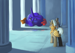 Size: 4960x3508 | Tagged: artist:toisanemoif, context is for the weak, earth pony, pony, princess luna, royal guard, safe, unicorn, wat