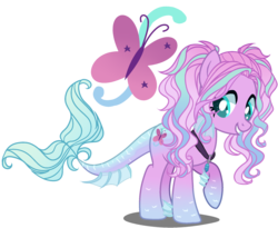Size: 2200x1800 | Tagged: safe, artist:gihhbloonde, artist:meimisuki, oc, oc only, hybrid, pony, adoptable, base used, choker, female, interspecies offspring, magical lesbian spawn, mare, multicolored hair, offspring, parent:aria blaze, parent:fluttershy, parents:ariashy, raised hoof, simple background, solo, transparent background