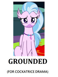 Size: 698x932 | Tagged: safe, edit, edited screencap, screencap, silverstream, student counsel, uprooted, spoiler:s09e03, spoiler:s09e11, bad end, cropped, grounded, sad, solo, wavy mouth