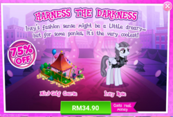 Size: 1024x692 | Tagged: safe, inky rose, pony, advertisement, costs real money, gameloft, minigolf, official