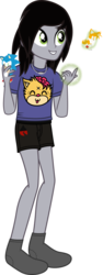 "Size: 772x2049 | Tagged: artist:lightningbolt, boxers, clothes, crossed arms, derpibooru exclusive, equestria girls, equestria girls-ified, floating, glowing hands, grin, hair over one eye, holding, jewelry, kellin quinn, magic, male, miles ""tails"" prower, necklace, plushie, safe, shirt, simple background, sleeping with sirens, slippers, smiling, socks, sonic the hedgehog, sonic the hedgehog (series), standing, svg, .svg available, transparent background, t-shirt, underwear, vector"