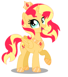 Size: 390x439 | Tagged: alicorn, alicornified, artist:awoomarblesoda, base used, pony, race swap, safe, shimmercorn, simple background, solo, sunset shimmer, transparent background