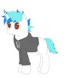 Size: 1000x1000 | Tagged: artist:inky scroll, clothes, male, oc, oc:snowy blue, pony, safe, simple background, solo, stallion, transparent background, unicorn