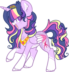 Size: 735x773 | Tagged: alicorn, artist:dashkatortik12222222, artist:lullabyprince, base used, beautiful, coat markings, colored hooves, colored wings, colored wingtips, crown, ear fluff, female, jewelry, leg fluff, mare, open mouth, pale belly, pony, raised hoof, redesign, regalia, safe, simple background, smiling, solo, transparent background, twilight sparkle, twilight sparkle (alicorn), wings