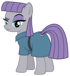 Size: 1659x1813 | Tagged: safe, artist:sketchmcreations, maud pie, earth pony, pony, student counsel, female, mare, maud pie is not amused, raised eyebrow, simple background, solo, transparent background, vector