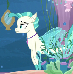 Size: 365x373 | Tagged: safe, screencap, terramar, seapony (g4), surf and/or turf, cropped, fins, jewelry, male, necklace, solo, tail