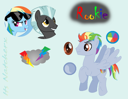 Size: 802x627 | Tagged: safe, artist:itsnatcherx, rainbow dash, thunderlane, oc, pony, female, male, offspring, parent:rainbow dash, parent:thunderlane, parents:thunderdash, shipping, straight, thunderdash