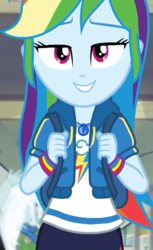 Size: 660x1080 | Tagged: safe, screencap, rainbow dash, snips, trixie, human, equestria girls, equestria girls series, run to break free, spoiler:eqg series (season 2), adorasexy, beautiful, bedroom eyes, cropped, cute, dashabetes, geode of super speed, lidded eyes, looking at you, magical geodes, sexy, solo, solo focus