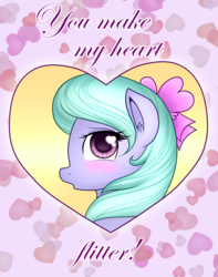 Size: 1179x1500 | Tagged: artist:marikaefer, ask flitter and cloudchaser, blushing, flitter, holiday, pony, safe, solo, valentine, valentine's day