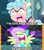 Size: 1280x1440 | Tagged: safe, edit, edited screencap, screencap, cozy glow, fluttershy, pegasus, pony, frenemies (episode), school raze, the best night ever, caption, cozy glow is best facemaker, cozybuse, crazy glow, faic, female, filly, flutterrage, insanity, you're going to love me