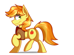 Size: 2377x1771 | Tagged: artist:tehshockwave, braebetes, braeburn, cute, earth pony, hatless, male, missing accessory, pony, profile, safe, simple background, solo, stallion, white background