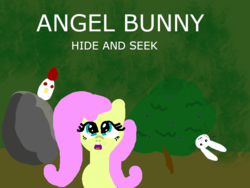 Size: 800x600 | Tagged: angel bunny, angel bunny hide and seek, artist:platinumdrop, cockatrice, fan game, flash game, fluttershy, game, safe, wip