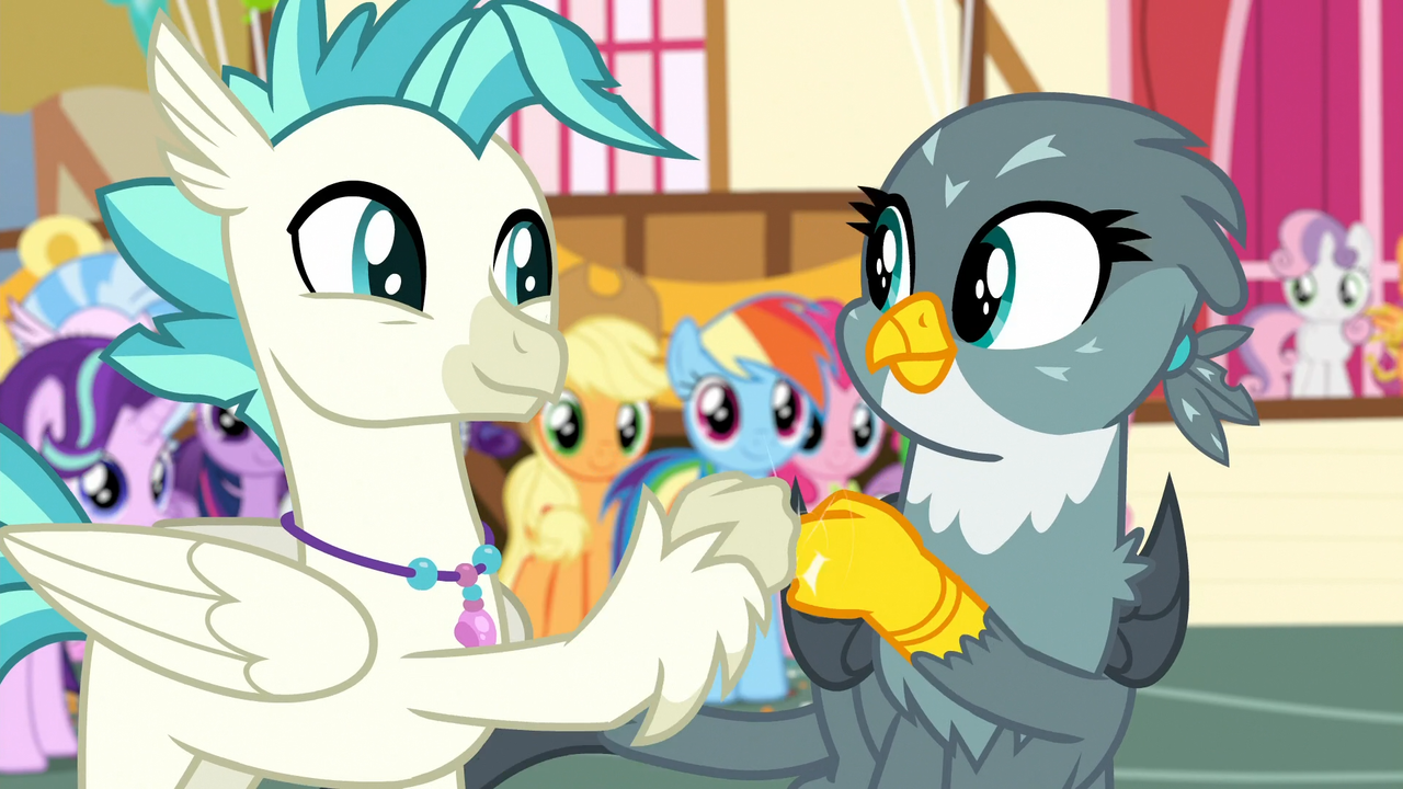 2066937 Alicorn Applejack Classical Hippogriff Dragon Duo Focus Female Fist Bump Fluttershy Gabby Griffon Hippogriff Male Mane Six Pinkie Pie Ponyville Rainbow Dash Rarity Safe Scootaloo Screencap Silverstream Spike Spoiler An older, mellower scootaloo relocates to the crystal empire, tasked with tutoring a jumpy junior yakyakistan is a cold place, and scootaloo is starting to find that the chill is cutting deeper than she. pinkie pie ponyville rainbow dash