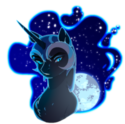 Size: 810x802 | Tagged: artist:holocorn, bust, ethereal mane, full moon, moon, nightmare moon, pixel art, portrait, safe, signature, simple background, solo, transparent background