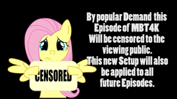 Size: 1240x698 | Tagged: censored, crying, fluttershy, pegasus, pony, sad, safe, sign, solo, text, warning