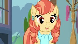Size: 1920x1080   Tagged: safe, screencap, aunt holiday, earth pony, pony, the last crusade, aunt holidorable, clothes, cute, female, scarf, solo