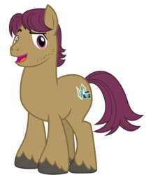Size: 2800x3200 | Tagged: alternate version, artist:cheezedoodle96, hat, looking at you, male, missing accessory, open mouth, pony, raised eyebrow, safe, simple background, smiling, snap shutter, solo, spoiler:s09e12, stallion, svg, .svg available, the last crusade, transparent background, vector