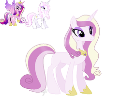 Size: 630x504 | Tagged: safe, artist:royalswirls, fleur-de-lis, princess cadance, pony, female, fleurdance, infidelity, lesbian, parents:fleurdance, shipping