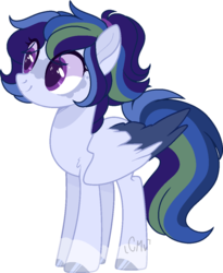 Size: 970x1181 | Tagged: artist:celestiai-moon, base used, female, magical lesbian spawn, mare, oc, oc:sparkle dash, offspring, parent:rainbow dash, parents:twidash, parent:twilight sparkle, pegasus, pony, safe, simple background, solo, transparent background, two toned wings, wings