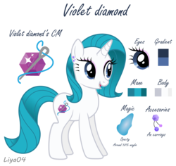 Size: 1024x966 | Tagged: artist:liya04, base used, female, mare, oc, oc:violet diamond, offspring, parent:fancypants, parent:rarity, parents:raripants, pony, reference sheet, safe, simple background, solo, transparent background, unicorn