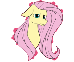 Size: 6000x5000 | Tagged: artist:tayzibubblelight, bust, female, floppy ears, fluttershy, looking at you, mare, pony, safe, simple background, smiling, solo, transparent background