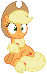 Size: 3975x6274 | Tagged: absurd res, applejack, artist:estories, pony, safe, simple background, solo, thousand yard stare, transparent background, vector