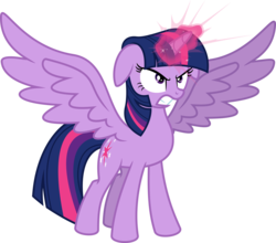 Size: 6832x6000 | Tagged: safe, artist:psychicwalnut, twilight sparkle, alicorn, pony, twilight's kingdom, .svg available, glowing horn, horn, inkscape, ponyscape, simple background, solo, transparent background, twilight sparkle (alicorn), vector