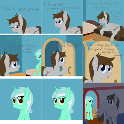 Size: 3844x3844 | Tagged: artist:phoenixswift, ask fuselight, bed, lyra heartstrings, male, oc, oc:fuselight, pegasus, pony, safe, stallion