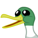 Size: 128x128   Tagged: safe, duck, derpibooru, .svg available, animal, badge, bill, derpibooru badge, meta, meta:op is a duck, picture for breezies, svg, vector