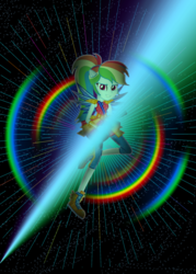 Size: 1500x2100   Tagged: safe, artist:razoredge2312, rainbow dash, equestria girls, legend of everfree, female, light, rainbow, solo