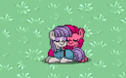 Size: 258x161 | Tagged: safe, maud pie, pinkie pie, pony, pony town, brother and sister, bubble berry, bubblini davinci berry, female, male, pinkamena diane pie, rule 63, siblings