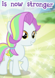 Size: 261x364 | Tagged: safe, coconut cream, pony, cropped, gameloft, meme, solo, wow! glimmer