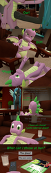 Size: 1920x6480 | Tagged: 3d, artist:papadragon69, choice, choose your own adventure, comic, comic book, comic:spike's cyosa, crystal empire, dragon, fight, glass, male, older, older spike, punch, queen chrysalis, safe, source filmmaker, spike, spike's cyosa, teenager, teenage spike, winged spike