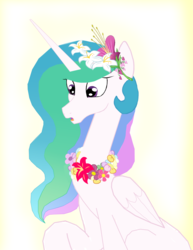 Size: 3680x4768 | Tagged: artist:mr100dragon100, discord, dislestia, female, flower, implied discord, implied dislestia, implied shipping, implied straight, male, princess celestia, safe, shipping, straight, vector