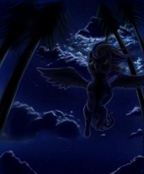 Size: 1666x2000 | Tagged: safe, artist:cometfire1990, night glider, pegasus, pony, nebula, night