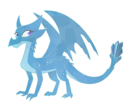 Size: 900x766 | Tagged: safe, artist:queencold, oc, oc only, oc:princess asa, dragon, crystal dragon, cute, dragon oc, dragoness, female, purple eyes, translucent