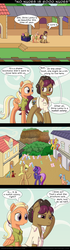Size: 700x2508 | Tagged: artist:deusexequus, butt, comic, earth pony, female, husband and wife, luggage, male, mane allgood, pegasus, plot, pony, safe, snap shutter, spoiler:s09e12, the last crusade, unicorn, we don't normally wear clothes