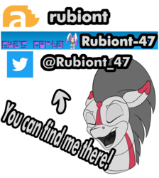 Size: 1000x1115 | Tagged: advertisement, artist:rubiont, oc, oc:rubiont, pony, robot, robot pony, safe, sticker