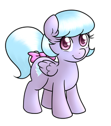 Size: 651x738   Tagged: safe, artist:marikaefer, cloudchaser, oc, oc:cirrus wing, pony, ask flitter and cloudchaser, female, filly, magical lesbian spawn, offspring, parent:cloudchaser, parent:flitter, parents:pegacest, product of incest, simple background, solo, transparent background