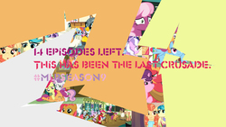 Size: 1152x648 | Tagged: safe, edit, screencap, apple bloom, applejack, aunt holiday, auntie lofty, babs seed, cheerilee, diamond tiara, gabby, mane allgood, pinkie pie, rainbow dash, scootaloo, shady daze, silver spoon, snails, snap shutter, snips, starlight glimmer, sweetie belle, terramar, twilight sparkle, twist, alicorn, classical hippogriff, earth pony, griffon, hippogriff, pegasus, pony, unicorn, the last crusade, break, cartoonito logo, colors, crack, cracked, cutie mark crusaders, female, filly, foal, fracture, fractured, illustrator, mlp s9 countdown, photoshop, twilight sparkle (alicorn)