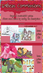 Size: 2452x4088   Tagged: safe, artist:69beas, pinkie pie, princess luna, oc, alicorn, earth pony, pony, unicorn, alicorn oc, basket, bed, bow, clothes, collar, commission, commission info, couple, cupcake, digital art, duo, ethereal mane, female, folded wings, food, glasses, heart, jewelry, lying down, male, mare, monochrome, one eye closed, prone, reference sheet, regalia, shipping, smiling, socks, solo, spread wings, stallion, text, tomato, traditional art, wings