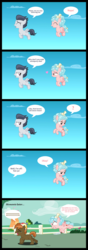 Size: 1550x4382 | Tagged: safe, artist:lunaticdawn, button mash, cozy glow, rumble, earth pony, pegasus, pony, beanie, buttonbuse, chase, colt, comic, cozy glow is not amused, crushing, dialogue, female, filly, foal, hat, heart, killing intent, knife, male, rumbleglow, sky, stalker, straight, text, yandere, yandereglow