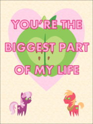 Size: 578x770 | Tagged: artist:bronybyexception, big macintosh, card, cheerilee, cheerimac, female, male, pony, safe, shipping, straight