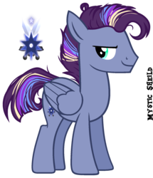 Size: 1400x1625 | Tagged: artist:starling-sentry-yt, base used, male, oc, oc:mystic shield, oc only, offspring, parent:flash sentry, parents:flashlight, parent:twilight sparkle, pegasus, pony, safe, simple background, solo, stallion, transparent background